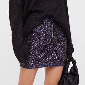 NWT Free People Sequin Mini Skirt - 8